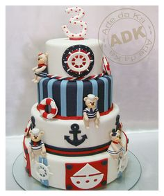 arte da ka - birthday - birthday cake - sailor teddy bear cake