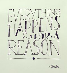 - Everything happens for a reason - #dutchlettering #dutchletteringchallenge #november #handlettering #handletteren #doodles #handmade #scripting #brushscripting #stiften