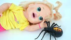 Baby Alive Sara minha boneca brincando na casa da Barbie perseguida pela aranha gigante!!! Totoykids - YouTube