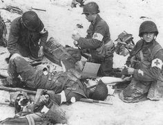 The casualties the 4th Division suffered on Utah Beach were much lighter than the losses of the 1st and 29th Division at Omaha Beach. Only about 175 soldiers were killed or wounded at Utah Beach as compared to nearly 3,000 Americans killed or wounded at Omaha Beach. Despite this, the medics still had plenty of work to do.