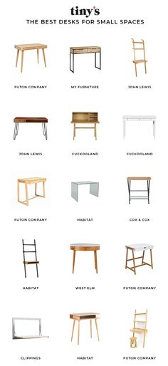 Designing a small home office? Check out our edit of the best space-saving desks. We've got all bases covered with this collection of ladder, compact, glass and folding desks. Which one will you choose? Small Home Office Desk, Desks For Small Spaces, Small Space Office, Home Desk, Tiny Spaces, Small Desk Table, Small Desk For Bedroom, Dressing Table For Small Space, Bedroom Workspace