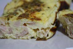 Quiche de pavo y queso al horno