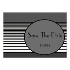 """This new design is modern, non-traditional, and geometric. The text is totally customizable, so it can be used for a """"save the date"""" card, birthday and anniversary party invitations, event announcements, promotional cards, and more. Big Circle Fading Stripes Save The Date Card 2"""