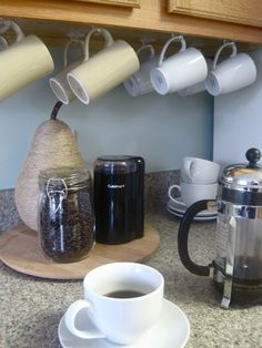 Attirant Clear Coffee Mug Hooks. Not A Coffee Drinker, But My Fiesta Cups Would Look