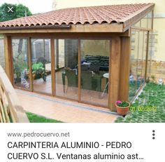 Cerramiento exterior Outdoor Rooms, Outdoor Living, Patio Enclosures, Enclosed Porches, Garden Design, House Design, Back Patio, Pergola Designs, Beach House Decor