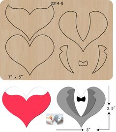 New Love, heart, dress, suit Wooden die Scrapbooking Cutting Dies Wooden die Fits Big shot. The thickness is and is compatible with most leading machines. All products strict inspection. Felt Crafts, Diy And Crafts, Paper Crafts, Card In A Box, Dress Card, Felt Patterns, Felt Dolls, Felt Art, New Love