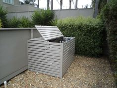 Pool Equipment Cover Ideas sliding gate to hide pool equipment Hide Pool Equipment Screenstohidepoolequipment