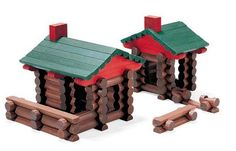 Lincoln Logs- I bult houses like these, corrals for my Bryer horses, and so many other things with my Lincoln Logs.  Good times...