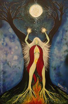 Sacred Feminine, Divine Feminine, Native American Paintings, Black Love Art, Goddess Art, Zodiac Art, Witch Aesthetic, Sacred Art, Tree Art