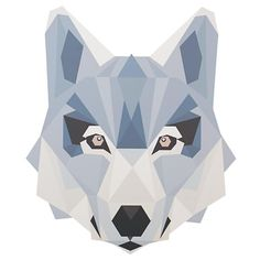 Love geometric shapes? Love giant faces of animals? Well, not only do you have very specific taste, but you're also in luck.  These giant wall decals features geometric animal faces, ready to go up on any wall.