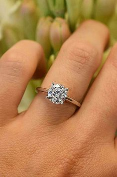 Round cut solitaire. My favorite. <3