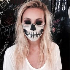 32 Scary-Sexy Skeleton Makeup DIYs For Your Best Halloween Yet: We all remember the Mean Girls Halloween party scene, where Cady Heron misses the memo (or, more accurately, gets some misdirection) and shows up to Chris Eisel's Halloween party as a corpse bride.