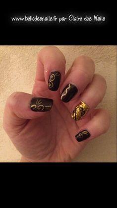 #nailart Silence et d'Or #nail #nails #manicure #marron #brown #or #gold #www.belledesnails.fr