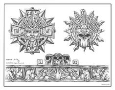 Mayan Tattoos, Mexican Art Tattoos, Symbol Tattoos, Polynesian Tattoos, Hand Tattoos, Tatoos, Tatuagem Azteca, Tattoos Pulseras, Quetzalcoatl Tattoo