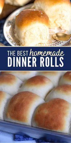 Dinner Rolls Easy, Sweet Dinner Rolls, No Yeast Dinner Rolls, Homemade Dinner Rolls, Dinner Rolls Bread Machine, Frozen Dinner Rolls, Fluffy Dinner Rolls, Dinner Bread, Easy Rolls