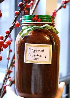 Rhoda's Peppermint Hot Fudge Sauce — Holiday Guest Post from Kelsey of The Naptime Chef - A great homemade gift for friends #HoliDIY
