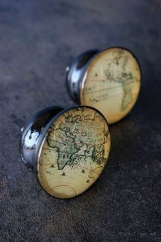 Set of 2 Map Drawer Knobs