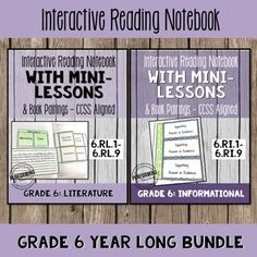 Mentor texts and interactive notebooks help one teacher teach the Common Core Standards in her classroom. 6th Grade Reading, Middle School Reading, Common Core Reading Standards, Core Standards, Lesson Plan Examples, Lesson Plans, Teacher Tools, Teacher Stuff, Teaching Reading