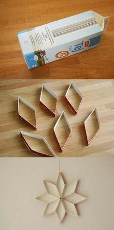 Motivos navideños hechos con cajas de leche¡¡¡