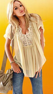 Embroidered blouse from Victoria's Secret.