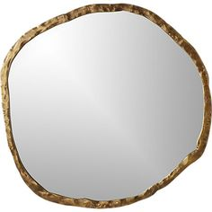 Shop Abel Round Mirror Rough-hewn aluminum frames oversized round mirror in organic style. Adds natural elegance to the living room or entry. Mounting hardware is included.