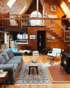 34 Inspiring Wooden House Design Ideas For Interior And Exterior Design Tiny House Cabin, Cabin Homes, Log Homes, A House, Boho Living Room Decor, Design Living Room, Design Bedroom, A Frame House Plans, A Frame Cabin