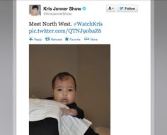Kardashian mom chooses Twitter to reveal baby pic