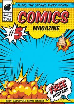 Comic Poster, Comic Art, Arte Banksy, Comic Template, Create Your Own Comic, Blank Comic Book, Magazine Cover Template, Comics Vintage, Download Comics