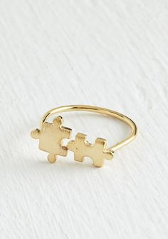 Fits Right In Ring. This dainty gold ring is just what your wardrobe needs!  #modcloth