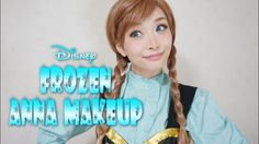 Helloween Makeup☆Disney's Frozen Anna Makeup Tutorial / アナと雪の女王 アナ風メイク