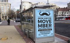 MOVEMBER 2016 - 2nd version of the Movember Poster 2016 advertsied on bus stop and public display.