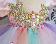 Your place to buy and sell all things handmade Unicorn Dress, Unicorn Costume, Unicorn Party, Unicorn Horn Headband, Beautiful Unicorn, Tutu Costumes, Rainbow Unicorn, Pink And Gold, Girls Dresses