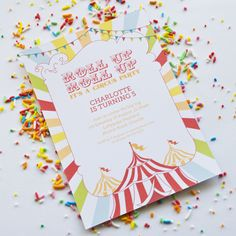 Rainbow Circus Party - Birthday party ideas, or summer kids party