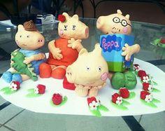 Família pig de biscuit