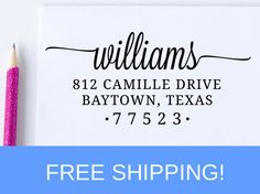 Return Address Stamp, Self Inking Address Stamp, Christmas Gift, Personalized Gift  (D171)