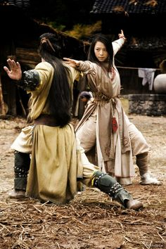 Mulan and Shang training after they get married.