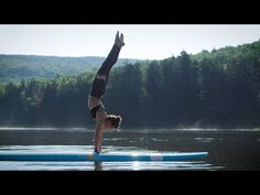 """Stand Up Paddle Board Yoga: """"No calm sea ever made a skilled sailor"""" Paddle Board Yoga, Standup Paddle Board, Sup Girl, Sup Stand Up Paddle, Sup Yoga, Learn To Surf, Big Waves, Yoga Videos, Paddle Boarding"""
