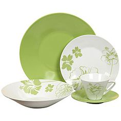 Casa Cortes 'Tropical Flower' 20-piece Dinnerware Set   $78.99