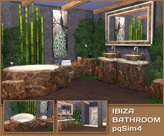 Ibiza bathroom by Mary Jiménez at pqSims4 • Sims 4 Updates