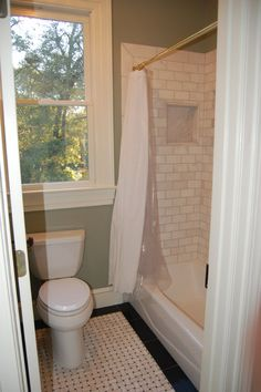 black tile floors bathroom - Google Search