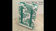 Floral Phrases Hand Stamped DSP Gift Bag - Video Tutorial using Stampin'...