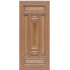Escon Doors M511CP Narrow Mahogany Entry Door with Carved Center Panel at Doors4Home.com