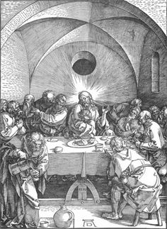 """The Last Supper"" (1515)  - Albrecht Dürer (1471-1528)"