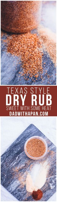 Texas Style Dry Rub For BBQs. Perfect for Chicken, Pork or Beef! Recipe for Texas Style Dry Rub Using Chili Powder, Brown Sugar, Cayenne and other spices to give you a sweet with a little heat type of BBQ rub! Homemade Spices, Homemade Seasonings, Smoker Recipes, Grilling Recipes, Game Recipes, Pasta Recipes, Recipies, Receta Bbq, Bbq Dry Rub