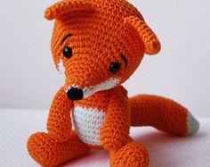 PATTERN: Red Fox Amigurumi fox pattern Crochet von KristiTullus