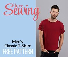 Sew up a classic mens T-shirt, download the free pattern now and follow our step by step instructons.