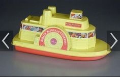 Happy Meals came inside Toys with coloring books & crayons inside! Ronald McDonald Riverboat Happy Meal Boat Toys 😄 Vintage McDonalds McDonald's _ Remember This? Toys R Us Kids, 80s Kids, 1980s Childhood, Childhood Memories, Before I Forget, Nostalgia, Mcdonalds Toys, Old School Toys, Old Toys