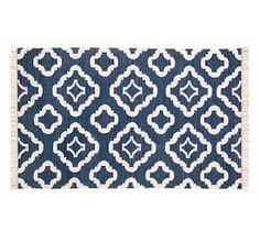 Lily Recycled Yarn Indoor/Outdoor Rug - Navy Blue #Pottery Barn