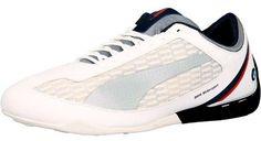 Puma Men's Power Race Bmw Motorsports White / Silver Team Blue Ankle-High Fashion Sneaker - 13M
