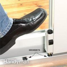 Install an auxiliary foot lock for added patio door security.